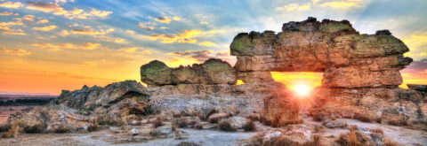 The Park of Isalo offers sumptuous landscapes